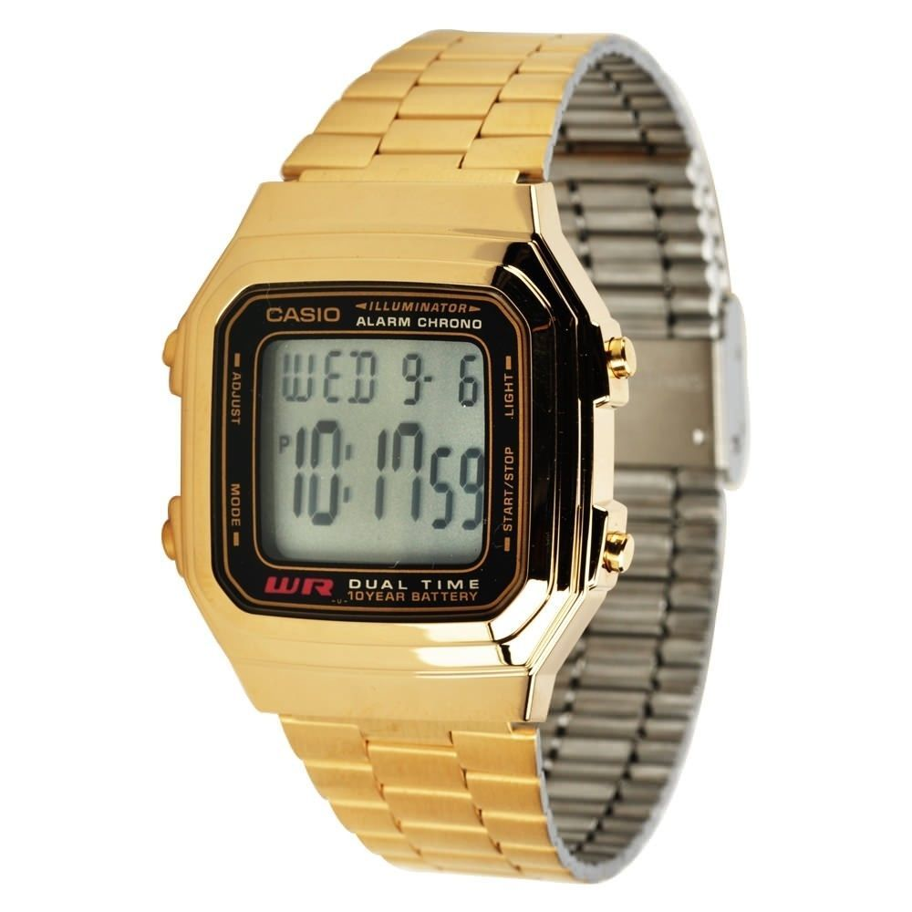 Details about Vintage Casio A178WGA 1A Gold Digital Watch