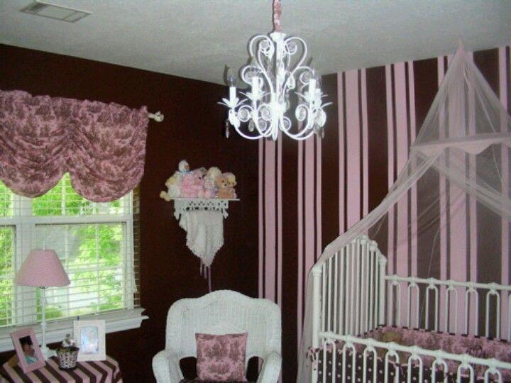 Pink N Brown Nursery Wall Decals Girl Girl Nursery Wall Pink