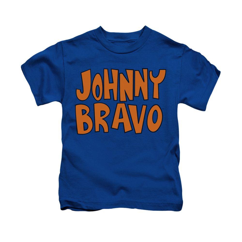 Johnny Bravo Shirt Kids Jb Logo Royal Blue Youth Tee T