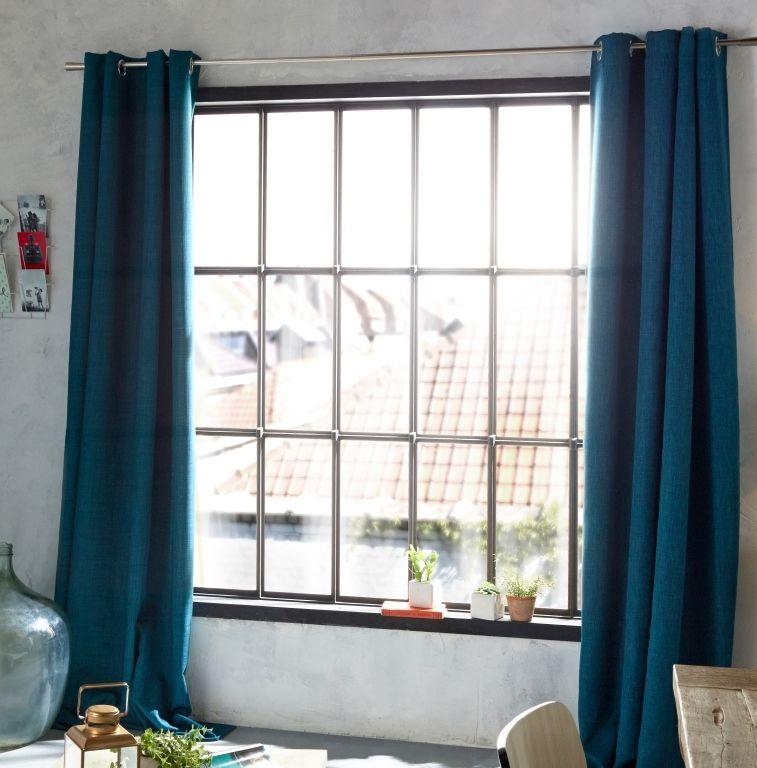 rideau colours valencia bleu 140 x 240 cm d co bleu pinterest rideaux bleus rideau bleu. Black Bedroom Furniture Sets. Home Design Ideas
