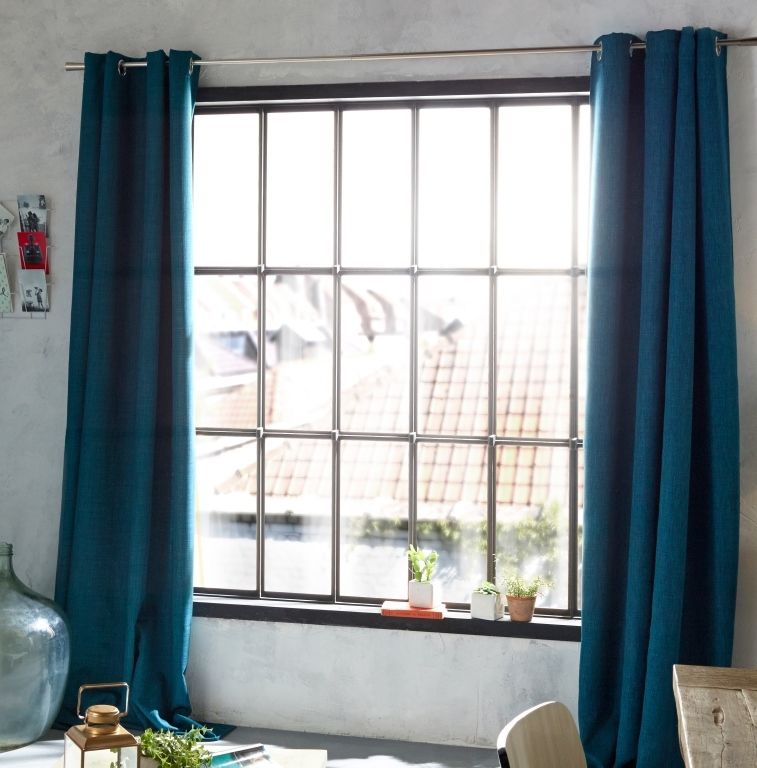 Rideau Colours Valencia bleu 140 x 240 cm | Déco Bleu en ...