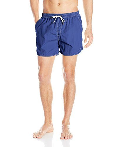 99221b0827244 Introducing BOSS HUGO BOSS Mens Lobster 5 Inch Solid Swim Trunk BlueWhite  XLarge. Great Product and follow us to get more updates!