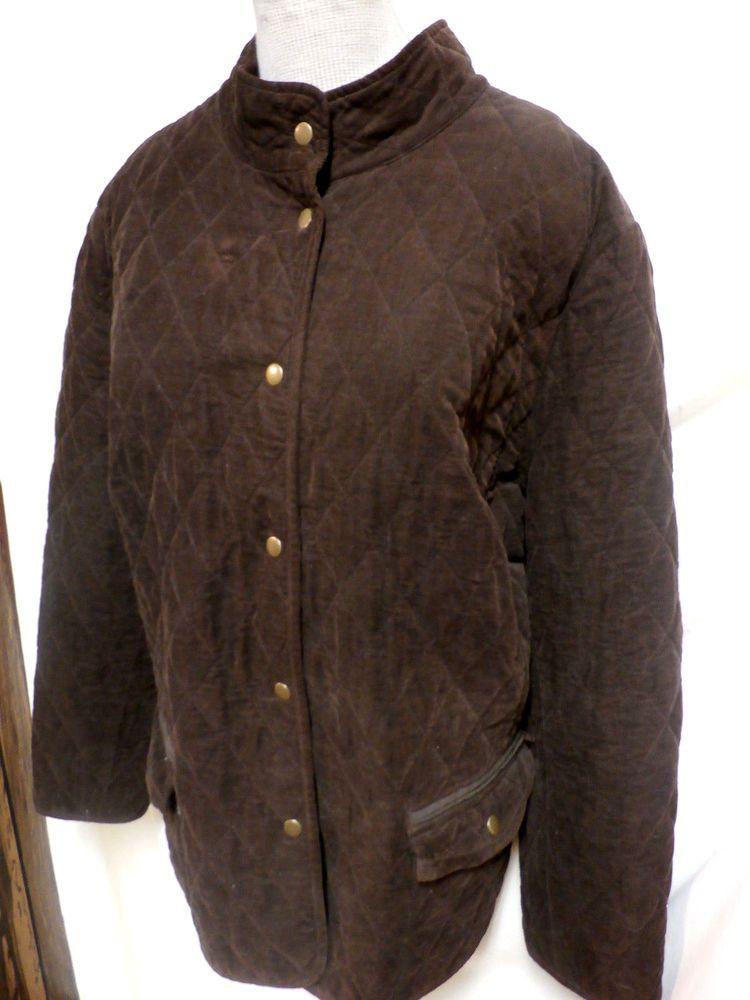df99523c36fba Charter Club Plus Size Dark Brown Corduroy Jacket W Snaps 3X  CharterClub   BasicJacket