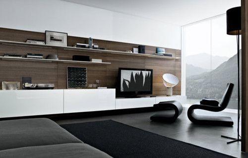 Media Center  Modern  Living Room  Poliform Usa  Tv Wall Cool Design For Wall Unit In Living Room Design Inspiration