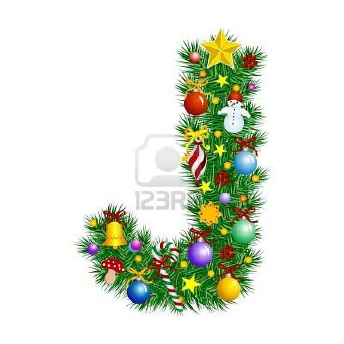 Letter J Christmas Tree Decoration Alphabet Christmas Tree Decorations Christmas Alphabet Tree Decorations