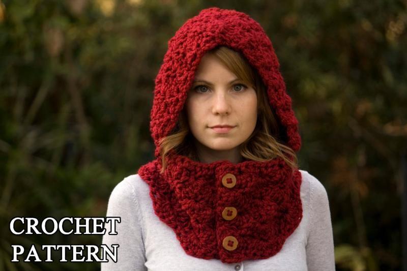 Burton Bear Cowl Free Pattern Crochet Pattern Hooded Cowl Button