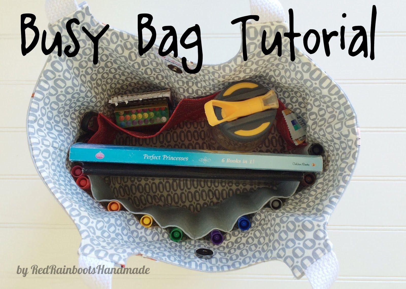 Busy Bag Tutorial - free from RedRainbootsHandmade