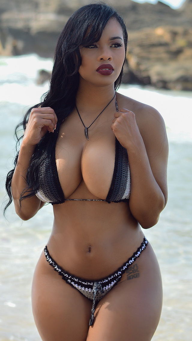 Sexy swimsuit latina