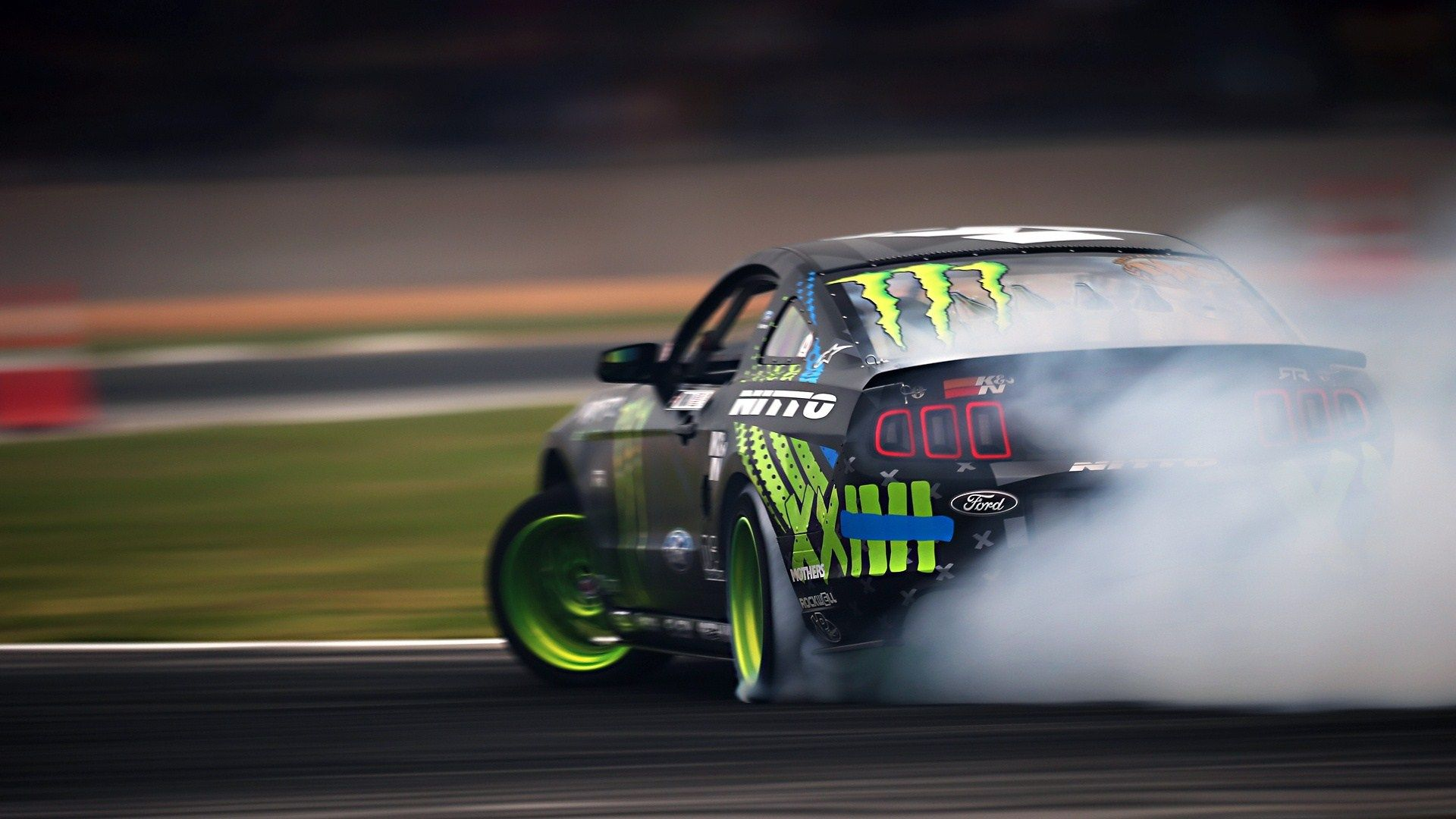 Ford Mustang Drift Track Smoke Wide Hd Wallpaper Wpwide