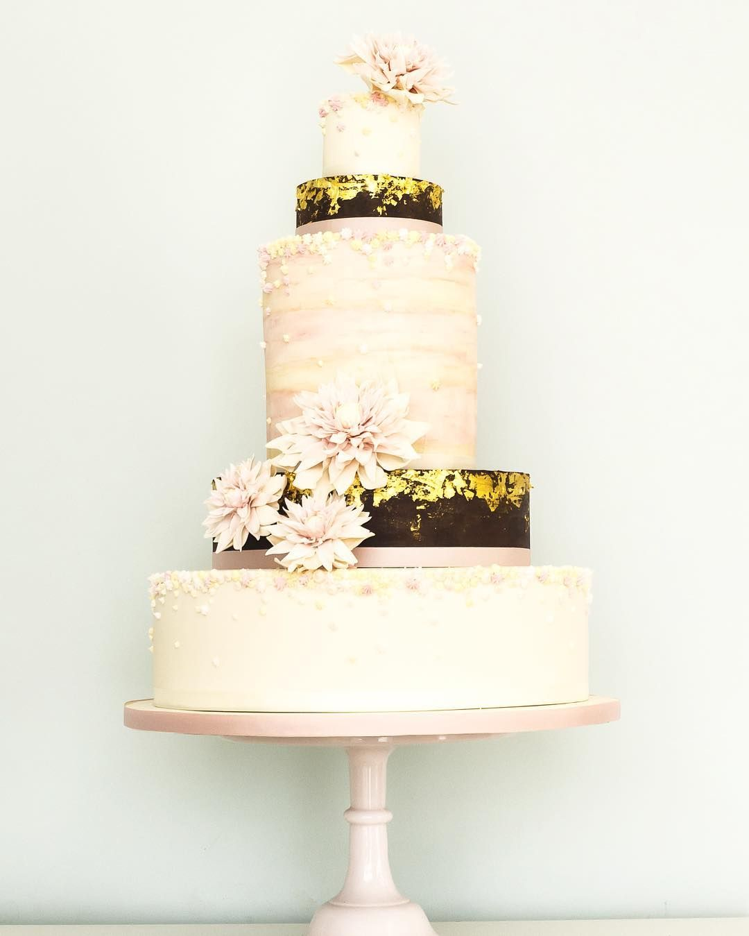 The Neopolitan - Chocolate and 24ct #gold #weddingcake