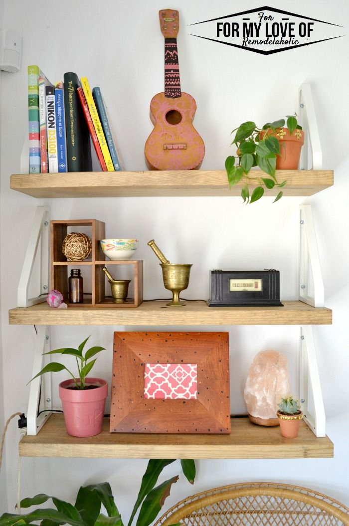 Diy Rustic Modern Boho Shelves Hacking The Ikea Ekby