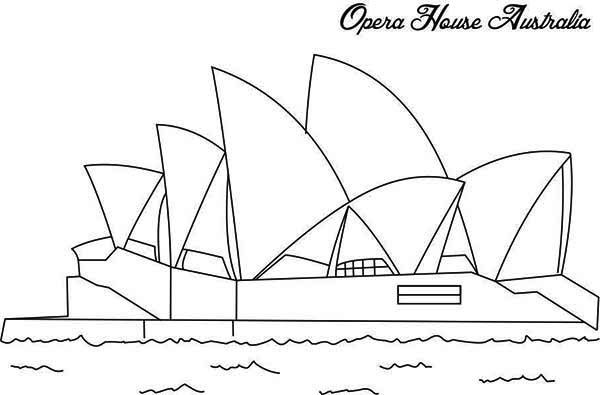 Australia Day The Famous Opera House In Sidney Ready For Australia Day Coloring Page Australia Day Coloring Pages Australia