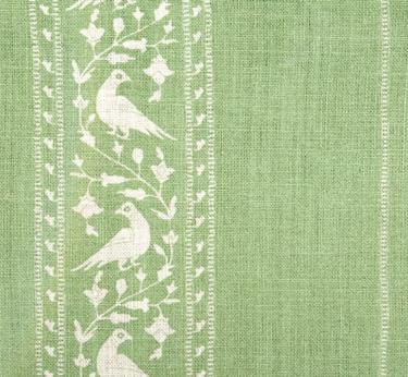 Baroda II in Mint from Lisa Fine Textiles #fabric #linen #green