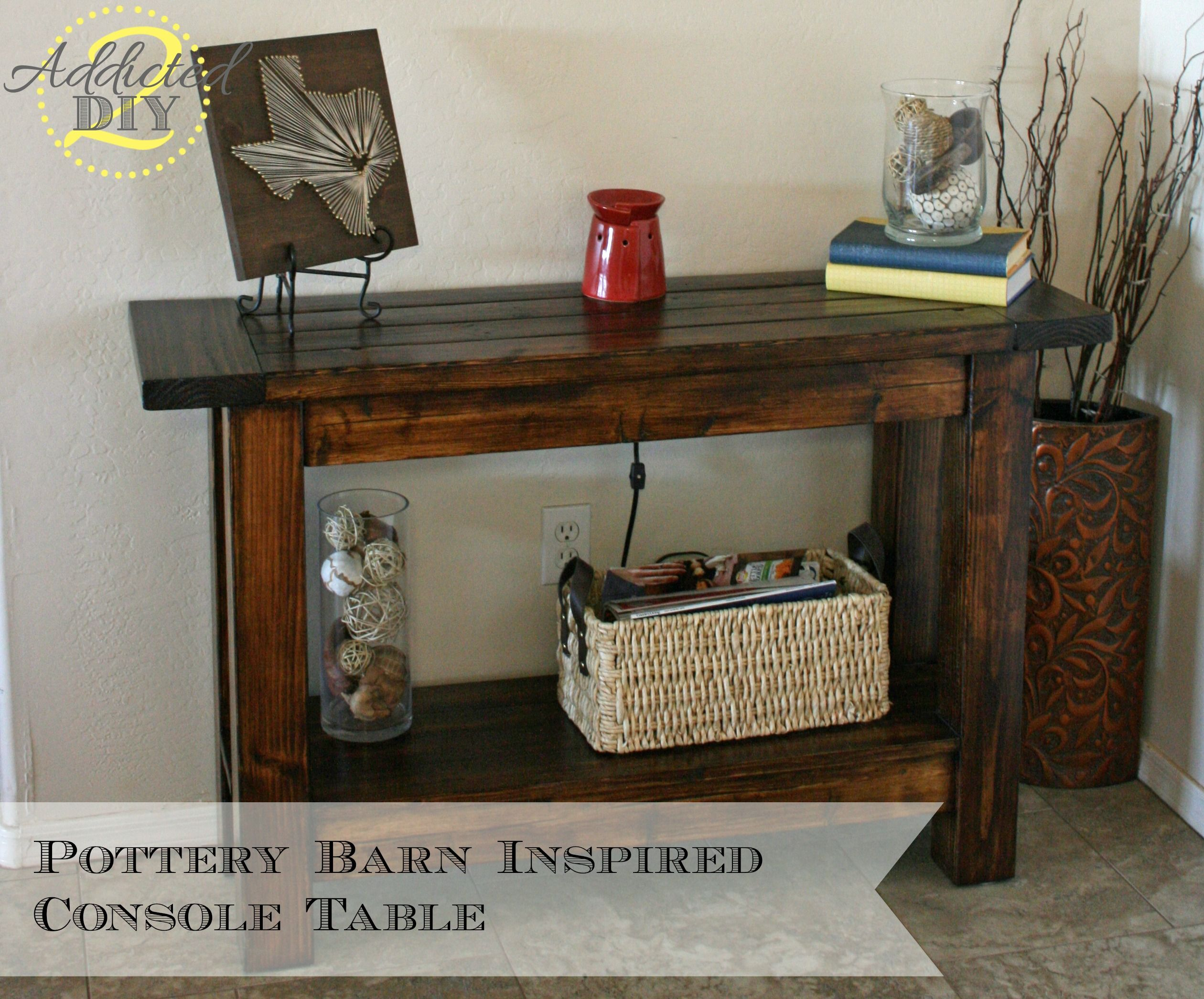Pottery Barn Inspired Console Table Room Decor Diy Console Table Decor