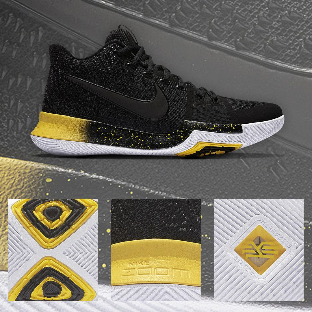 premium selection 99560 89ab3 Primed for another championship run. The Nike Kyrie 3 'Black ...