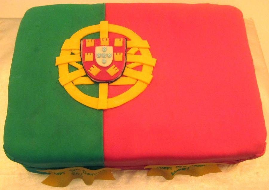 Portuguese Flag Cake Birthday Cakes Portugal Drapeau Cuisine Portugaise Drapeau