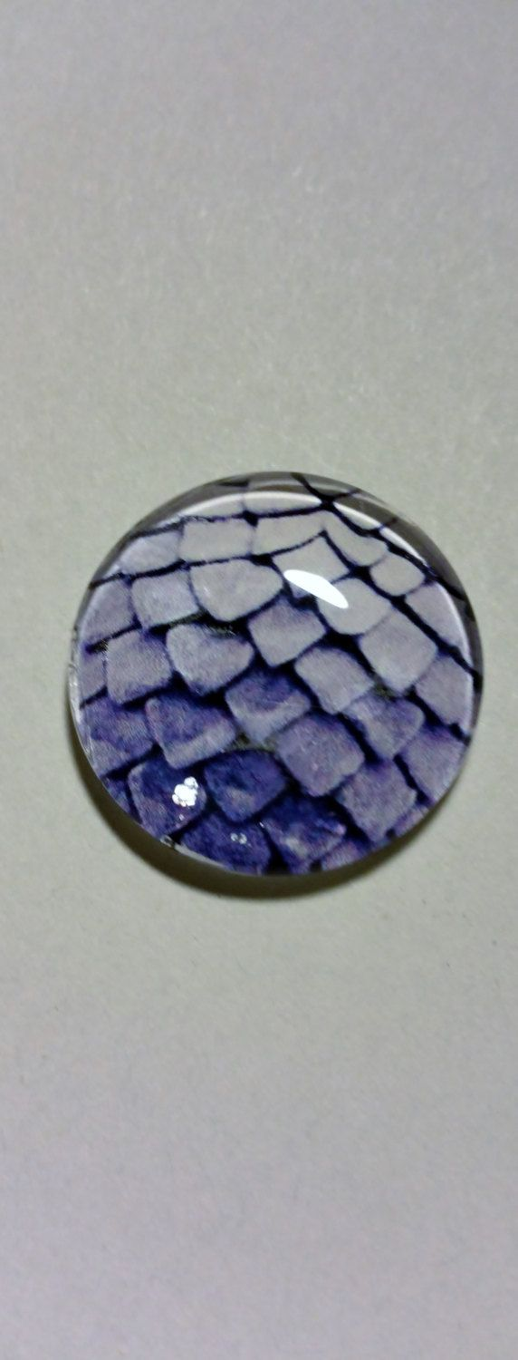 25mm Handmade purple dragon egg scale round Glass cabochon for wire wrapping…