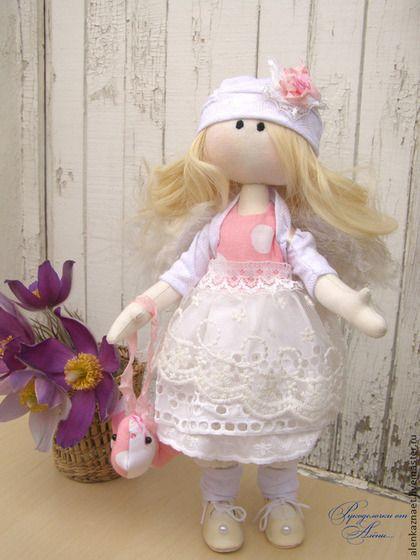 Куклы тыквоголовки ручной работы. Заказать Ангелочек... Кукла большеножка (тыквоголовка). polorusova........ Ярмарка Мастеров. Большеножка, Снежка, ребенок, трикотаж