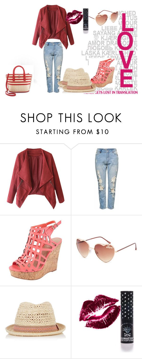 """""""Ready for love"""" by wishcomestrue ❤ liked on Polyvore featuring Lipsy, Charles by Charles David, Full Tilt, Oasis, Manic Panic NYC and Tory Burch"""