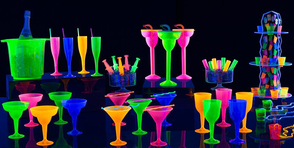 Black Light Party Supplies Glow In The Dark Party Ideas