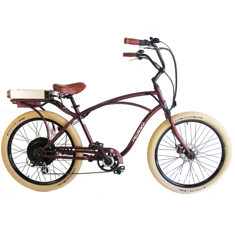 The Electric Comfort Bicycle - Hammacher Schlemmer - This is the electric bicycle designed to take riders on extended tours in unequaled comfort.