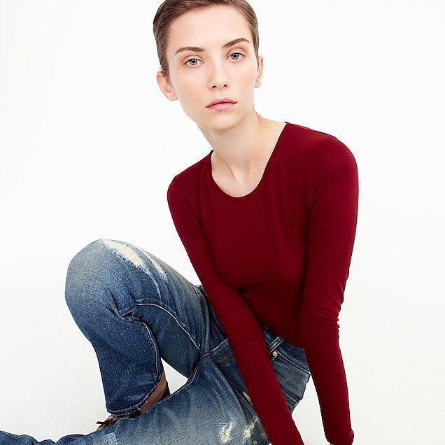 6f1d08d2ae women's crewneck long-sleeve bodysuit - women's knits | Research ...