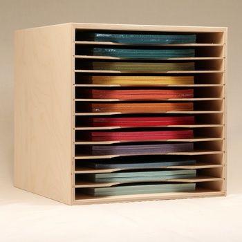 12x12 Paper Holders Craft Paper Storage Paper Storage Scrapbook Room Organization
