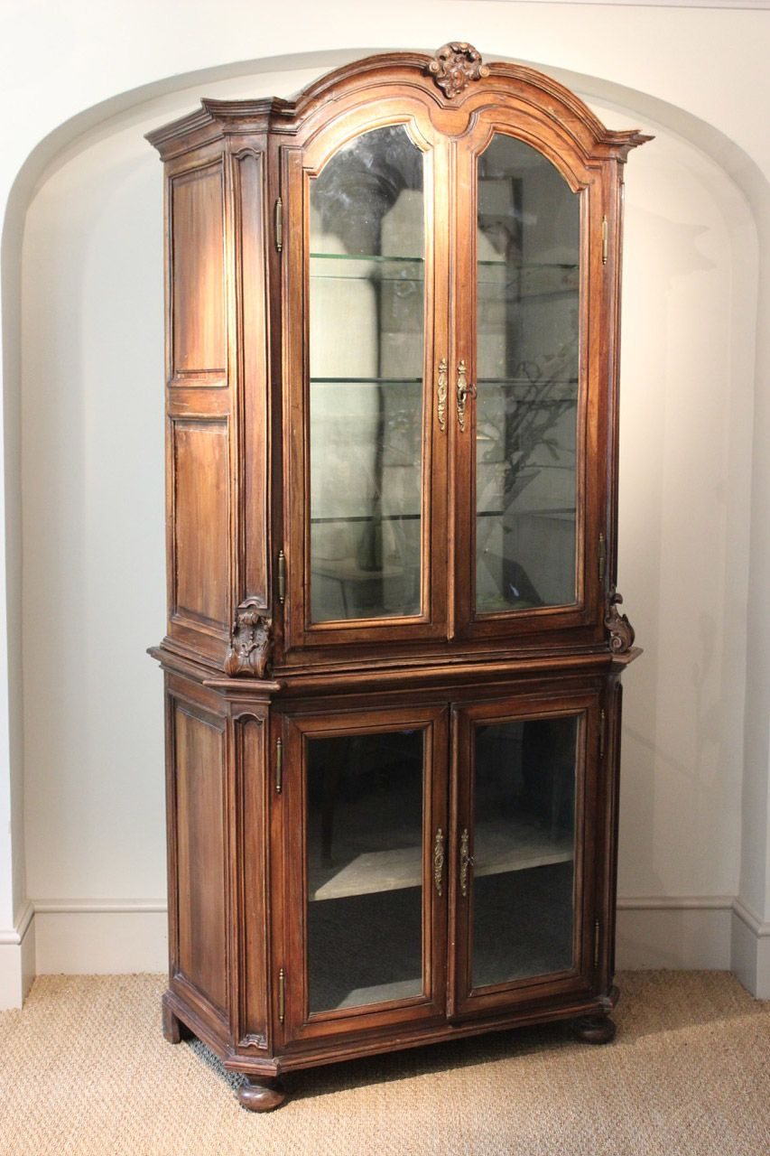 Ordinaire A Fine North Italian Walnut Display Cabinet   Decorative Collective