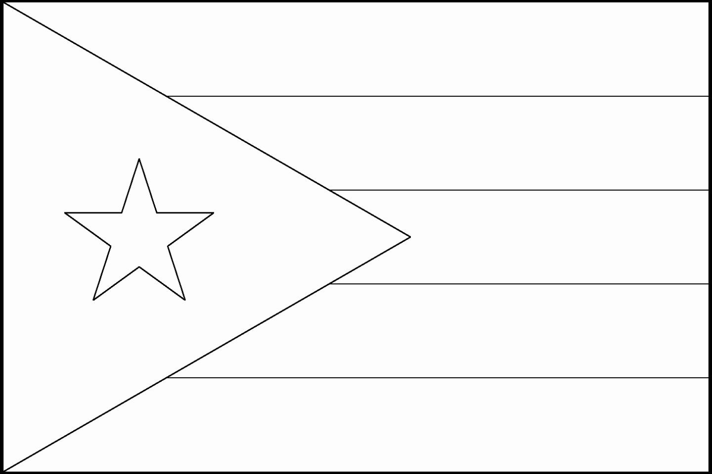 32 Puerto Rico Flag Coloring Page In