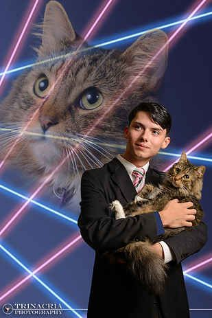 Principal Joins Teen Who Wanted His Cat In His Yearbook Picture For The Most Amazing Photo Ever