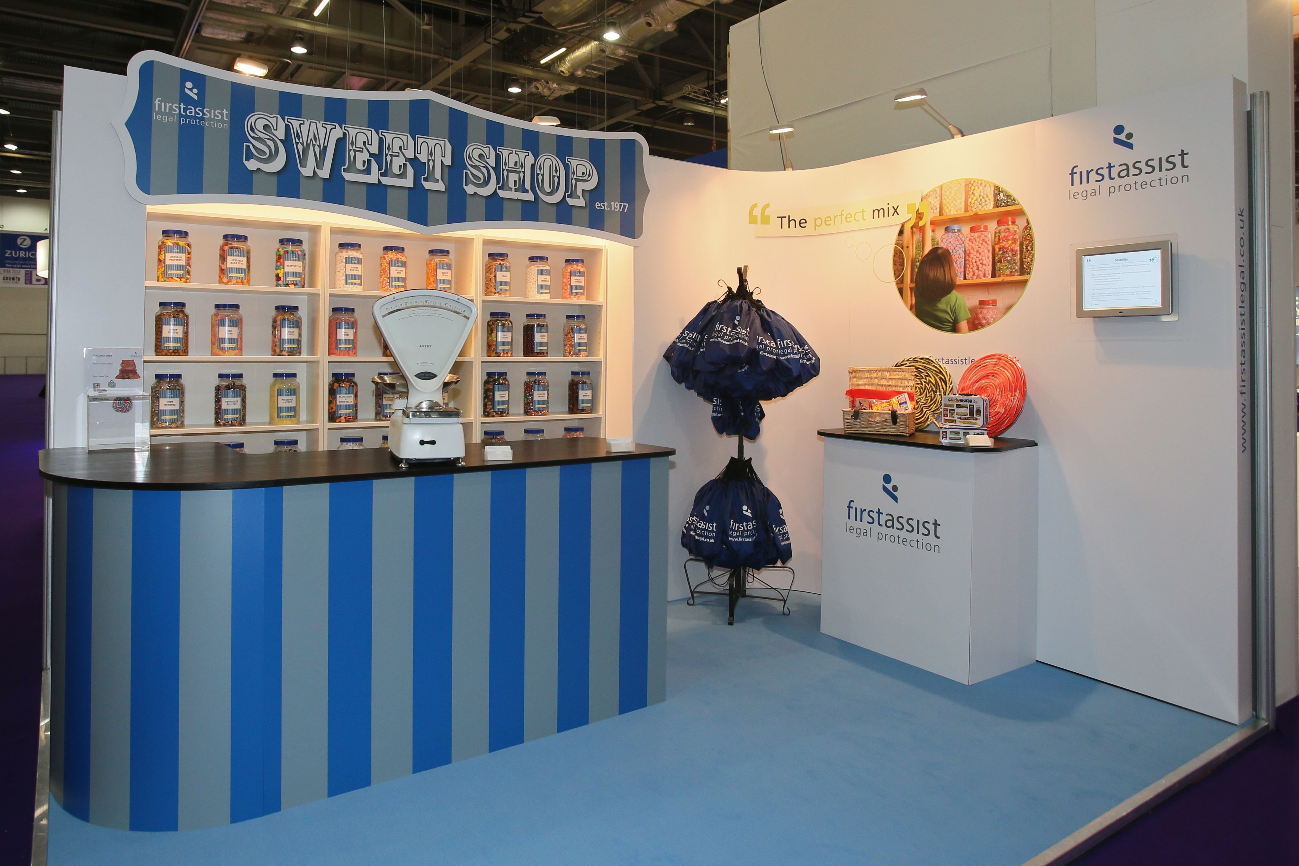 Exhibition Stand Extras : A built in sweet shop our client at biba