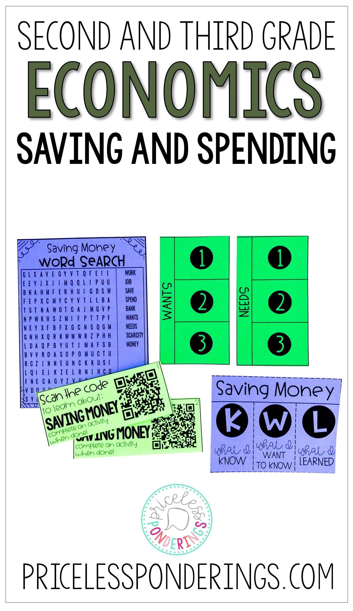 Spending And Saving Money Economics Activities