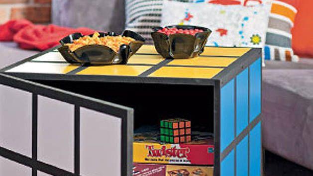 Rubicks cube coffee table | gaming ideas | Pinterest