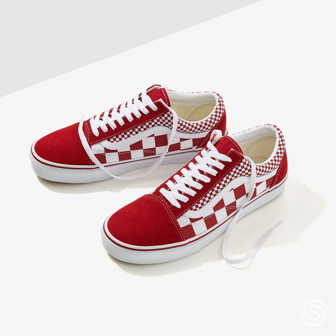 Vans UA Old Skool RoodWit Dames | Vans sneakers in 2019