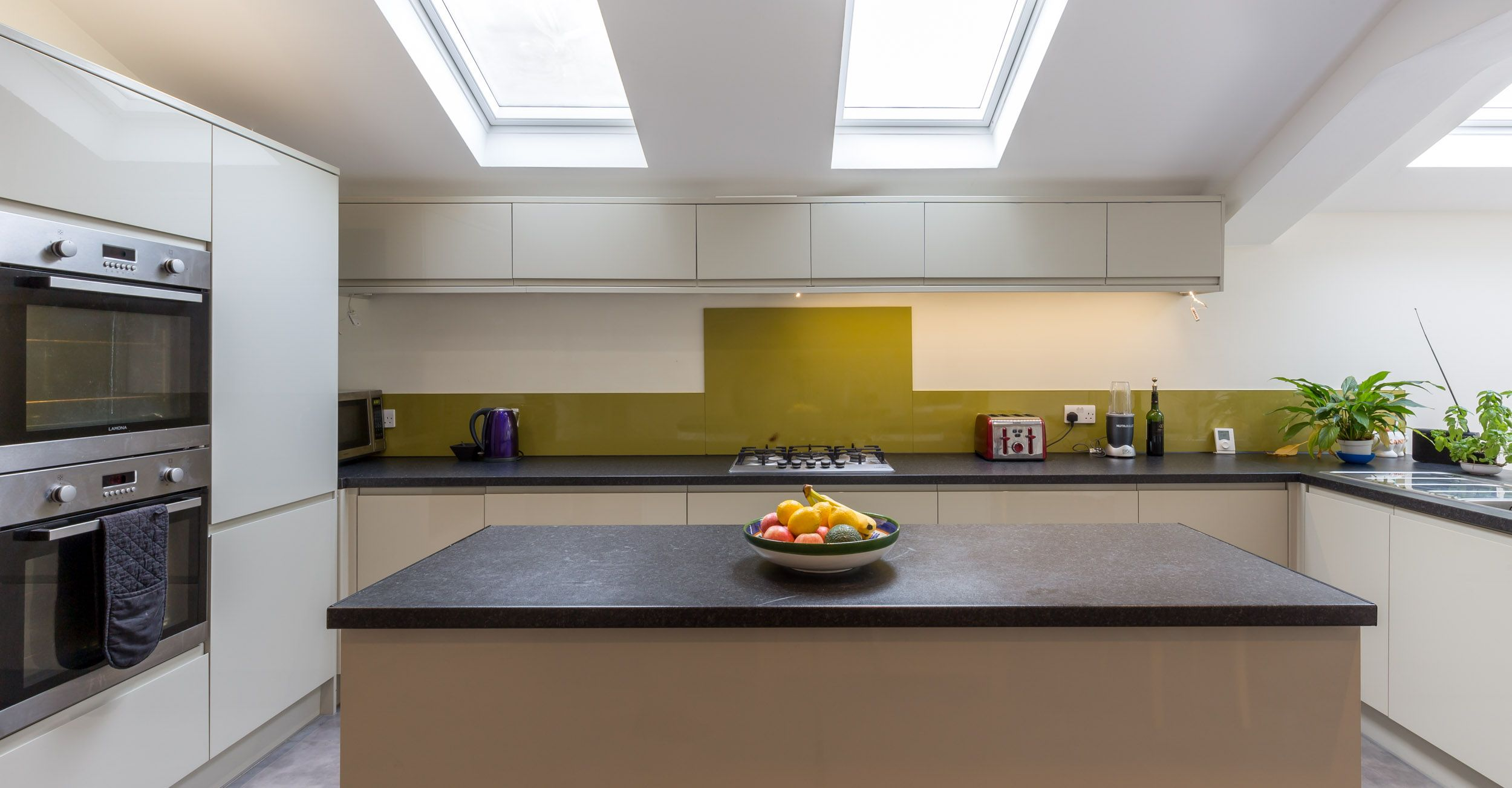Grey kitchen modern kitchen london by lwk kitchens london - Modern Kitchen Extension London Home Kitchen Island Velux Rooflights Double Oven