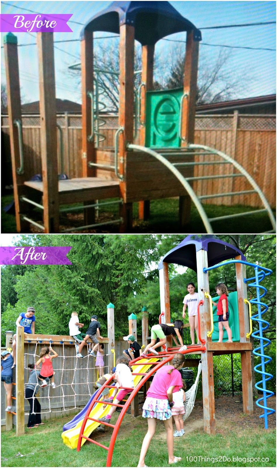 backyard playground before and after your best diy projects