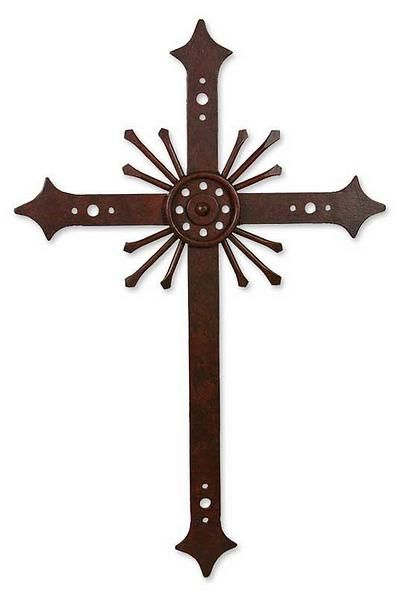 Religious Iron Cross Wall Art Message Of Light Crosses Cross