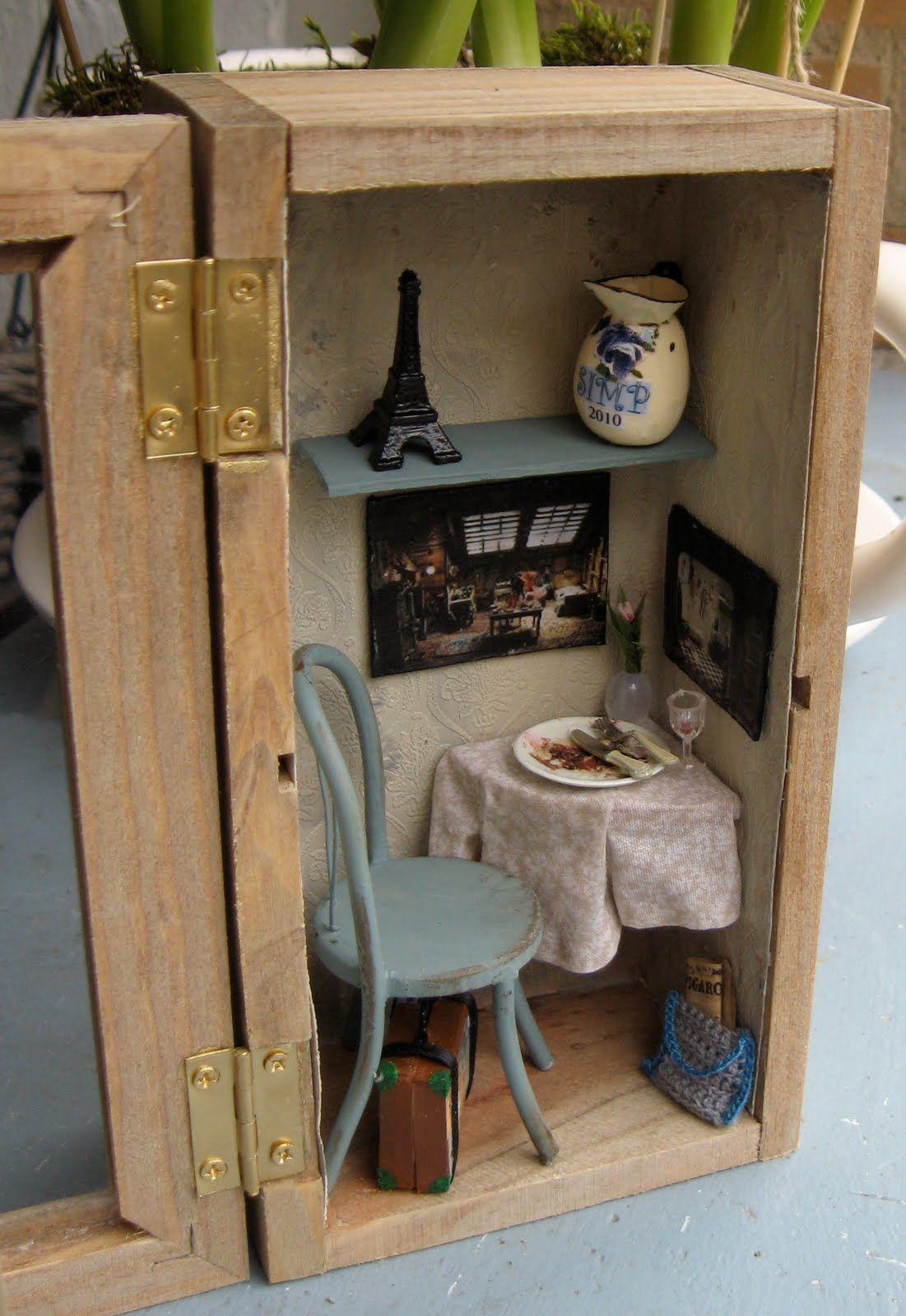 Another idea,  change it up for fairy room in garden. #miniaturerooms