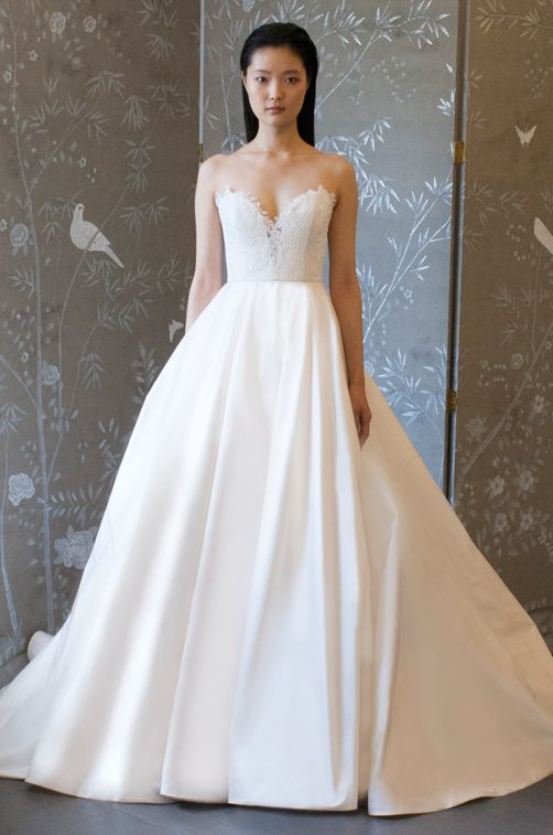 Strapless Lace Bodice Ball Gown Wedding Dress Romona Keveza Collection Style L8132 Ball Gowns Wedding Wedding Dresses Kleinfeld A Line Wedding Dress