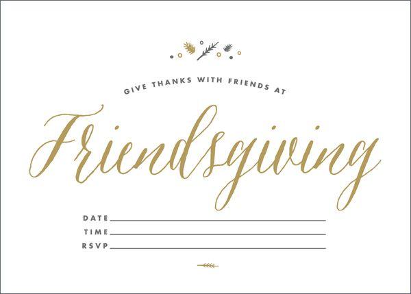 Friendsgiving Invitations: Exclusive Free Downloads!  Invitation Downloads