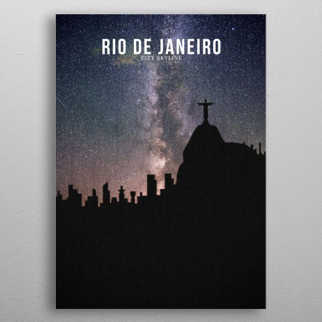 RIO DE JANEIRO_Milky Way metal poster | Displate thumbnail