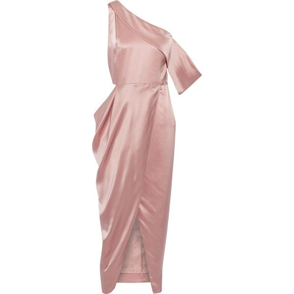 Michelle Mason One-shoulder cutout silk-charmeuse midi dress (€870 ...