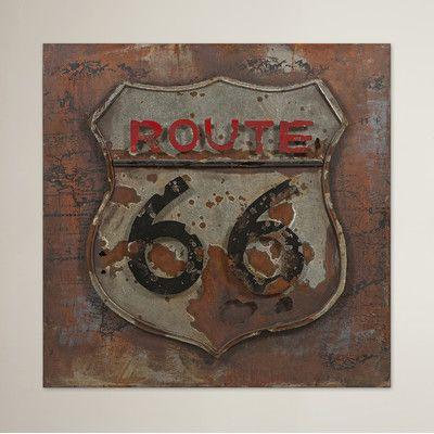 Trent Austin Design Foster City Vintage Route 66 Graphic Art Plaque