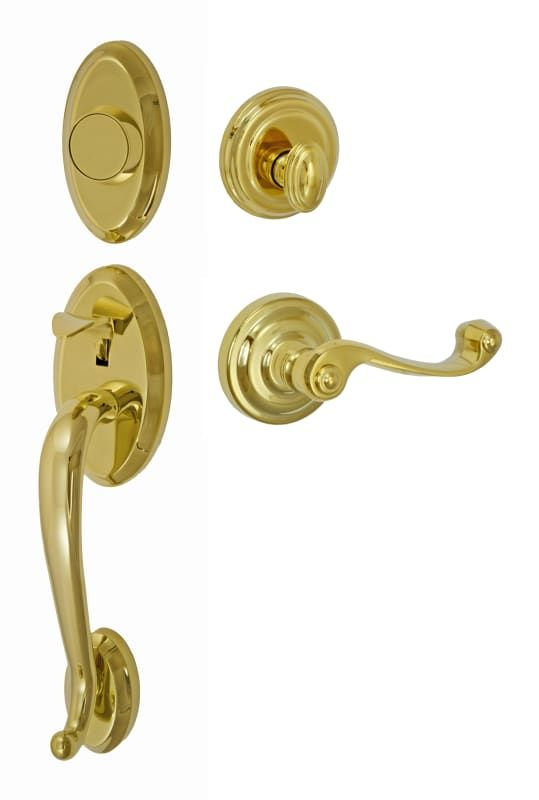 Miseno HD-BB-02 Lansdale Solid Brass Sectional Dummy Handleset with Aereo Lever PVD Brass Handleset Dummy Set