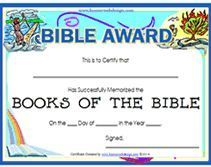 Free printable bible award certificate cc lessons pinterest free printable bible award certificate yadclub Choice Image