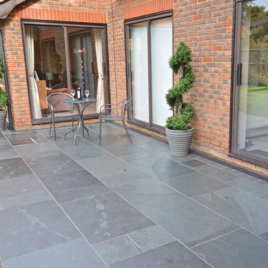 Image result for slate patio slabs patio ideas for Blue slate garden designs