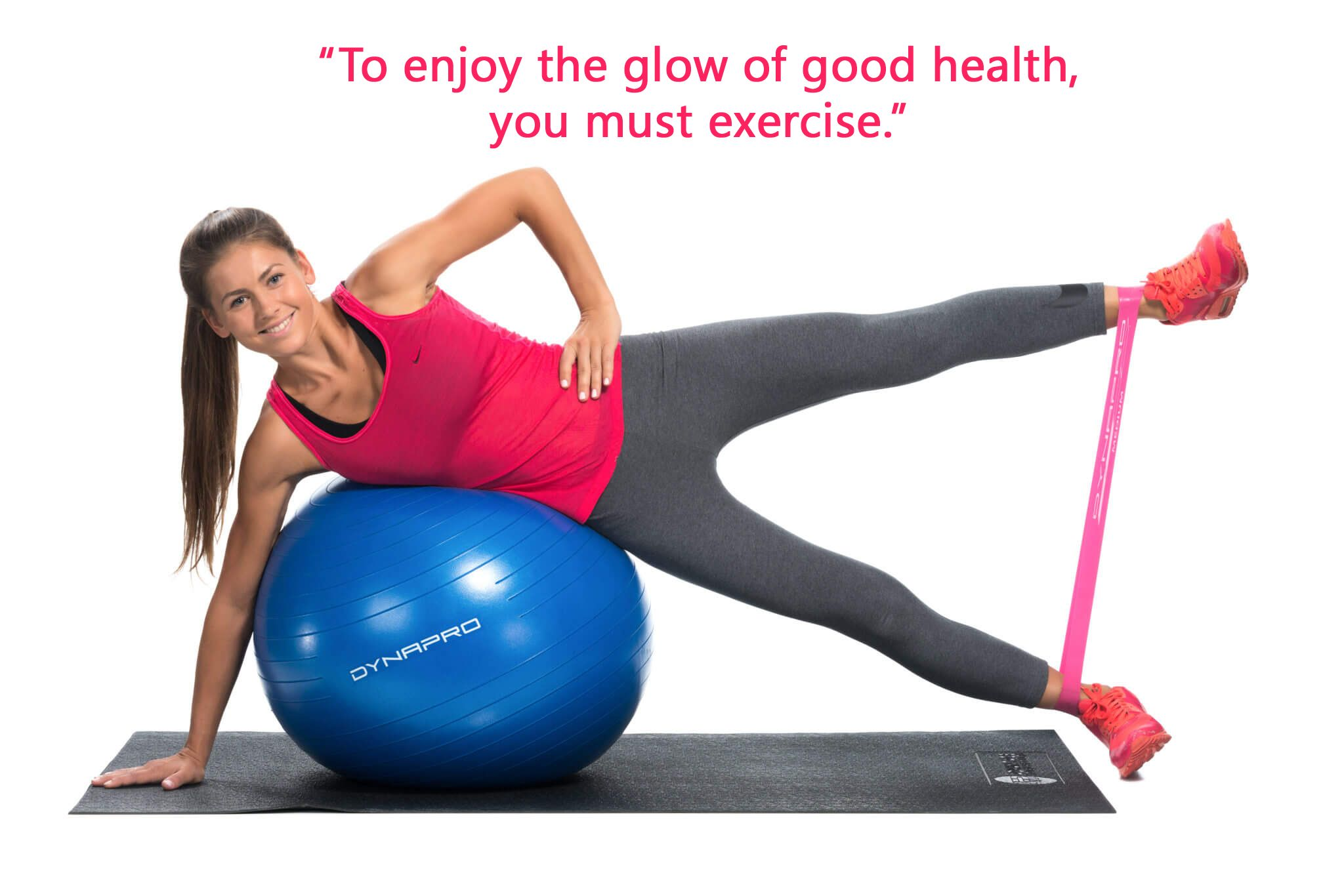 Exercise Ball with Pump GYM QUALITY Fitness Ball by DynaPro Direct More colors and sizes available aka Yoga Ball Swiss Ball