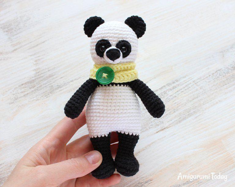 Lindo osito panda amigurumi   ternuritas   Pinterest   Osos, Lindo y ...