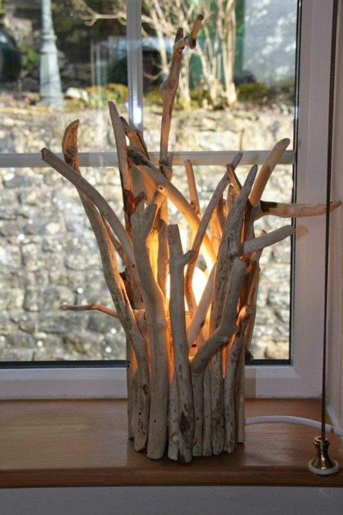 creation bois flotte lampe tres originale fenetre salle