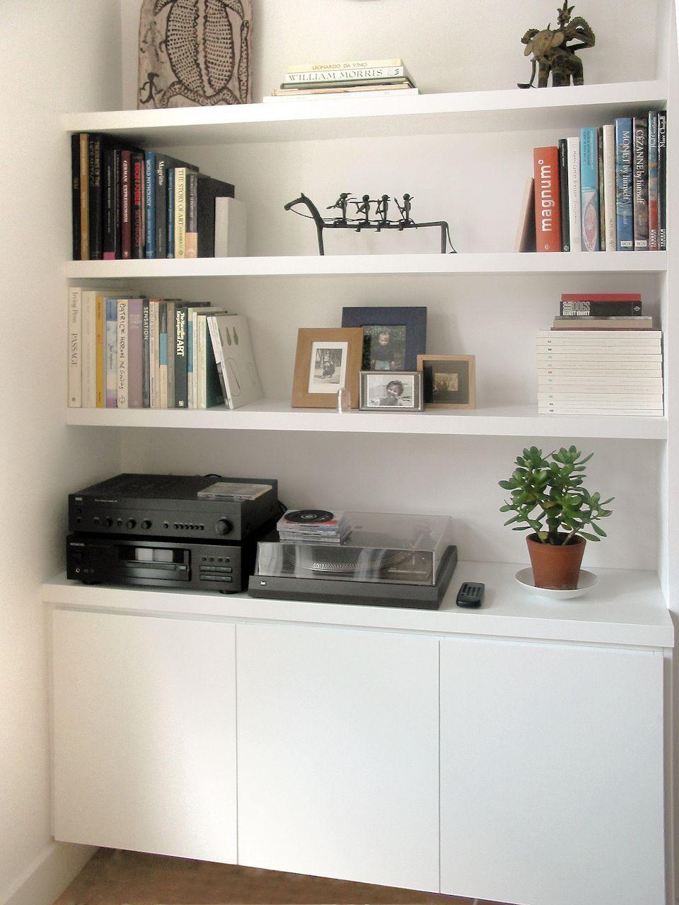 Alcove Storage Idea Plain White I Like The Bottom Handless D